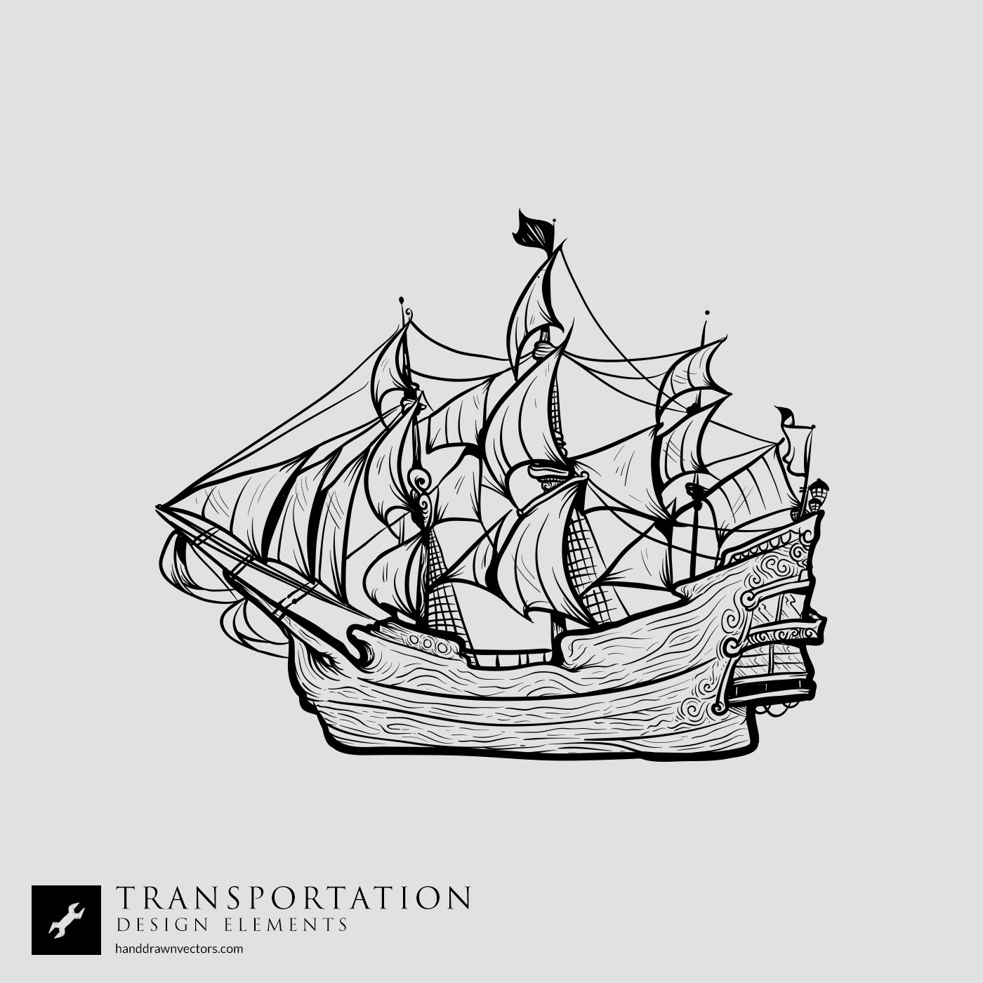 Pirate ship Transportation Vector