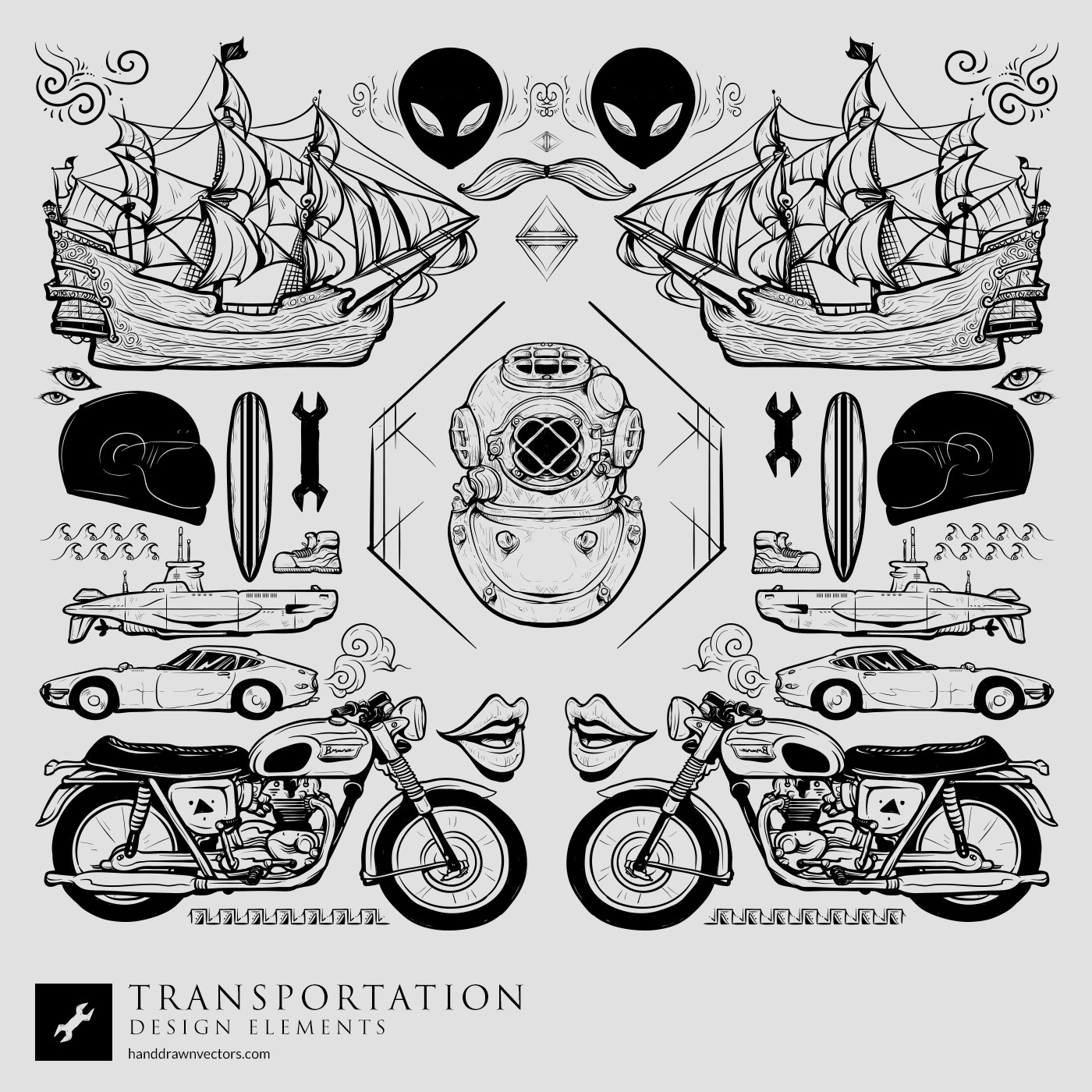 Transportation Collection Vector