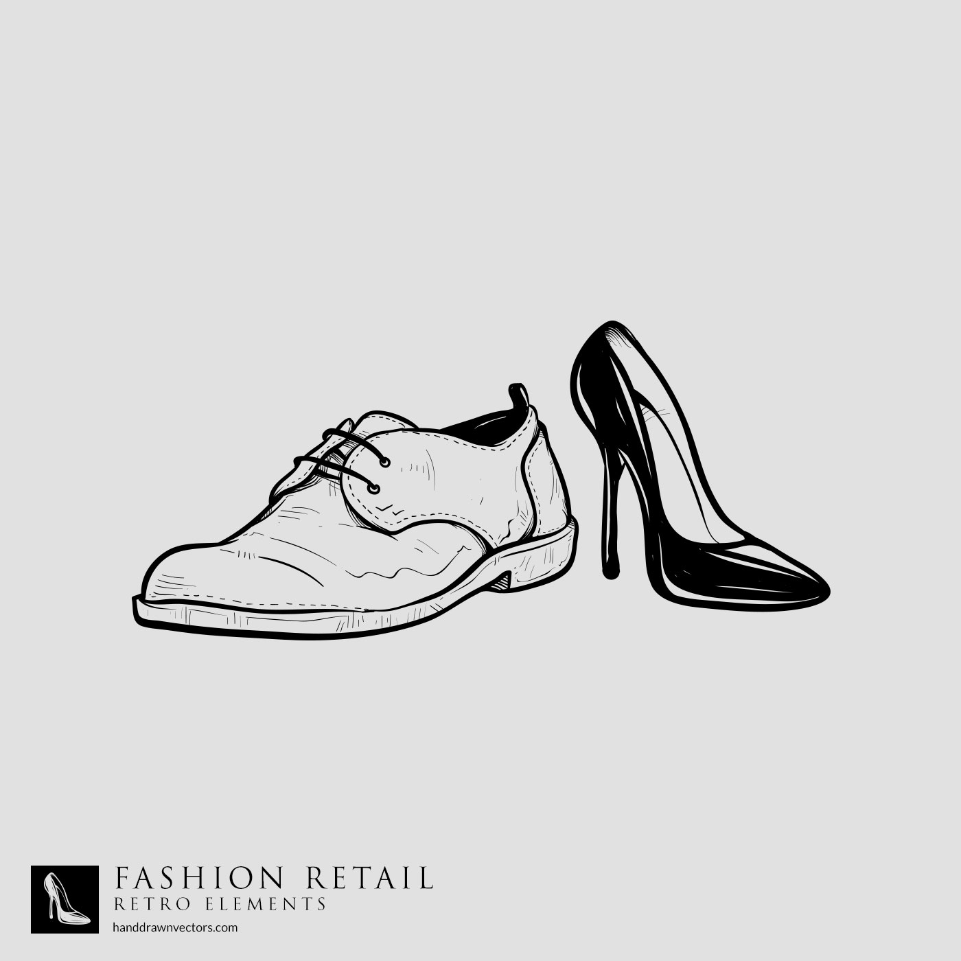 retail shoes vector
