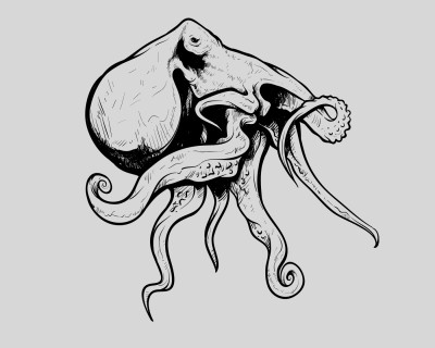 Octopus sea vector