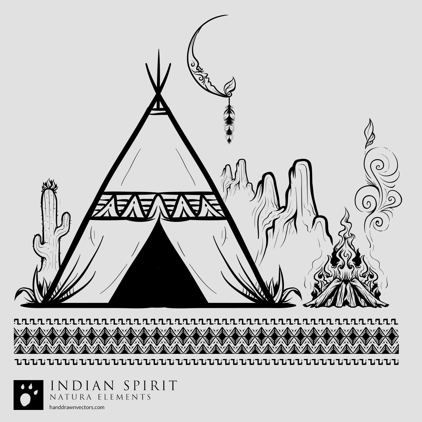 indian desert night vector