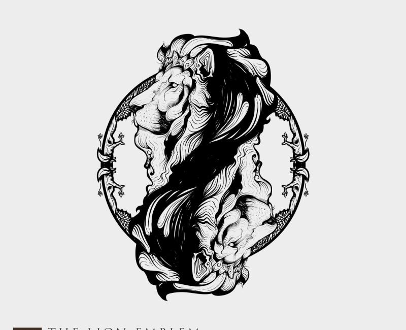 Line Drawing Lion Head : Head tribal tattoo g