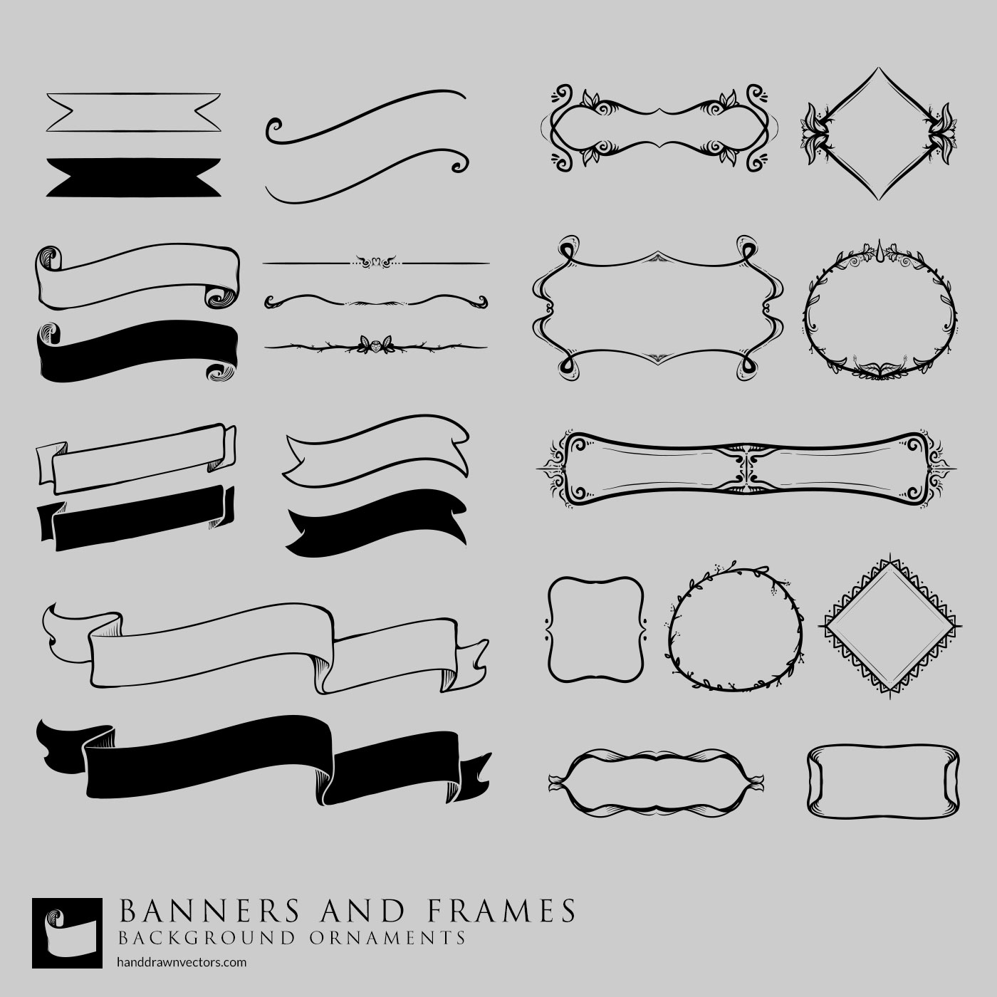 banners frames vector collection
