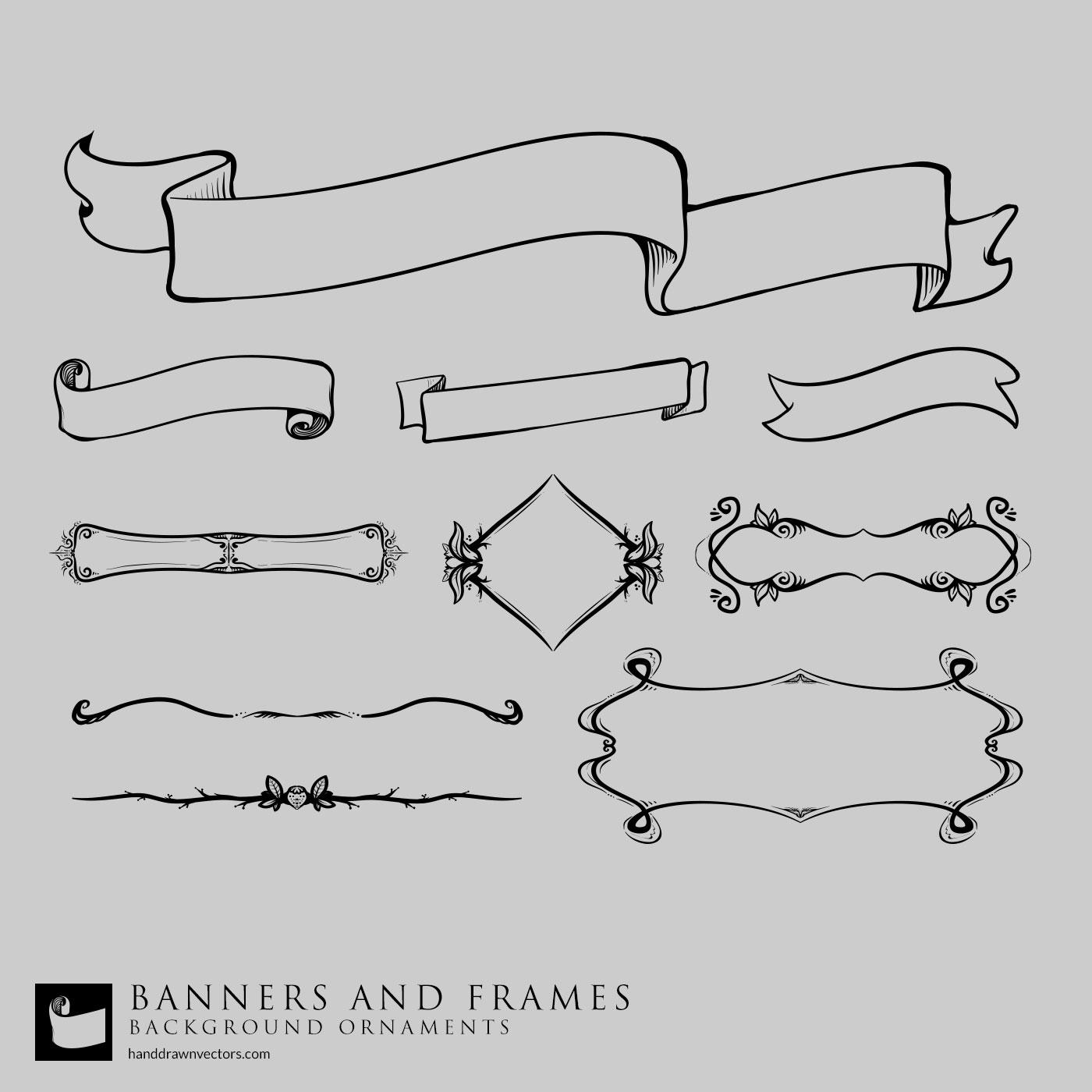 banners frames vectors