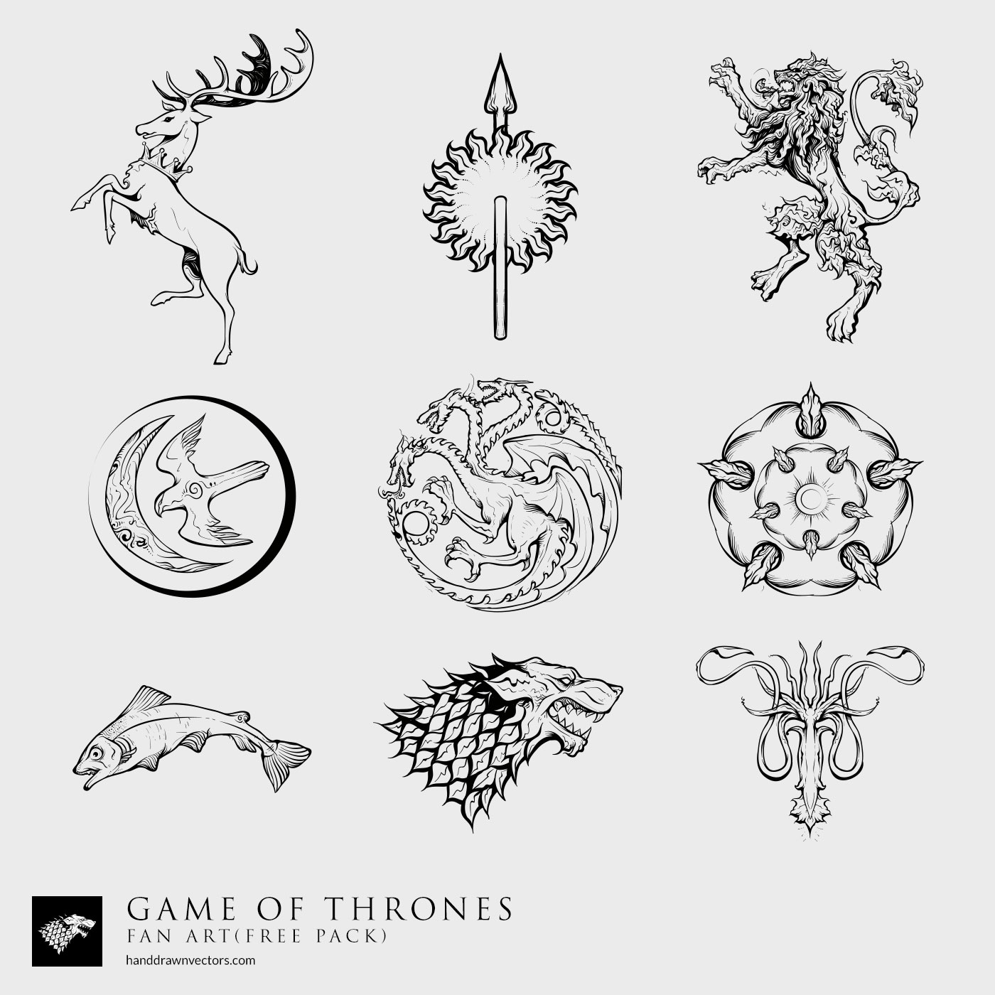 Game of Thrones Sigil Collection Vector