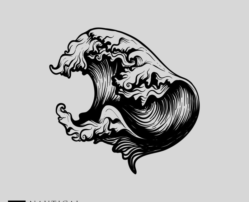 wave nautical vector